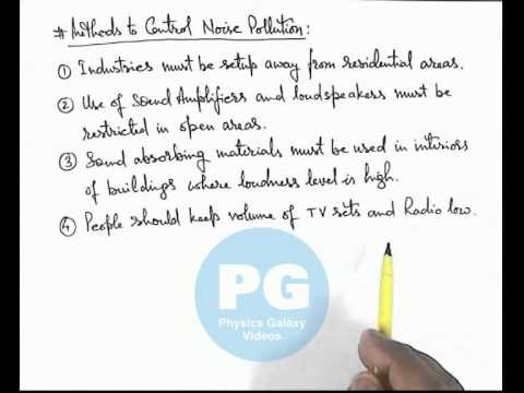 Methods to Control Noise Pollution (GA_JSW14A)