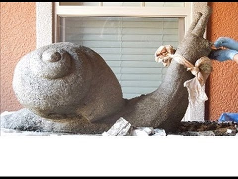 Giant Hypertufa Snail! Recipes and Tips for Hypertufa Planters, Troughs and Sculpture