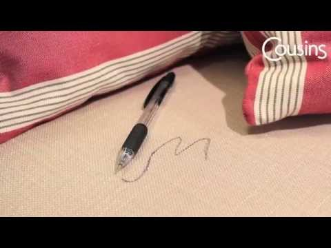 Stain Removal from Upholstered Furniture - Pen