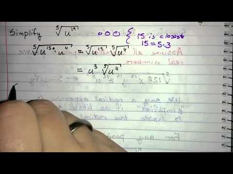 5.4.1 - Simplifying Radical Expressions