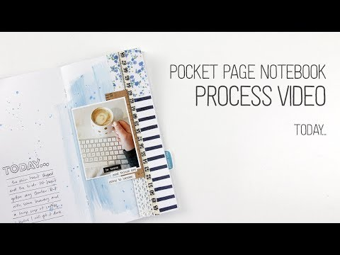 Pocket Page Notebook Layout // Today // Scale It Down Grab 5 Challenge