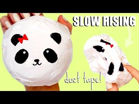 DIY DUCT TAPE SQUISHY   No stuffing, no memory foam panda bun