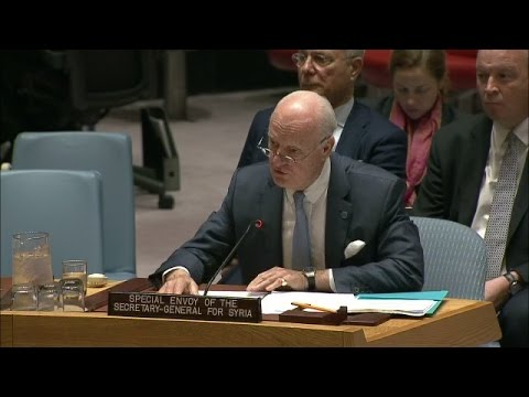 Special Envoy for Syria, Staffan de Mistura, briefs the Security Council
