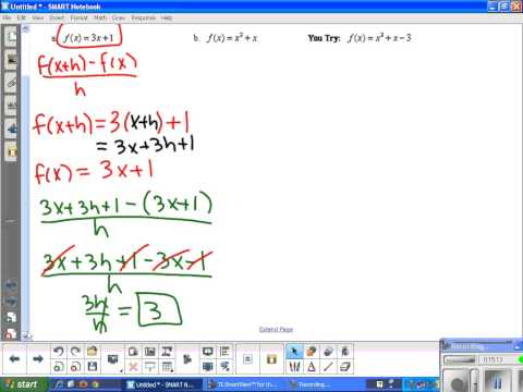 3.1 Functions and the Difference Quotient (Video 1)