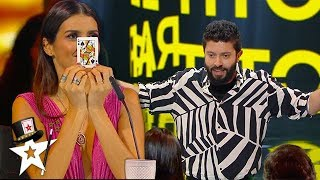 CARD MAGICIAN Does Close-Up Magic With Judges | Magicians Got Talent