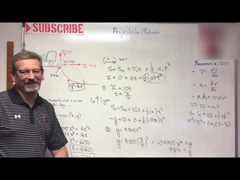 Dynamics - Lesson 8: Projectile Motion With Parabolic Landing