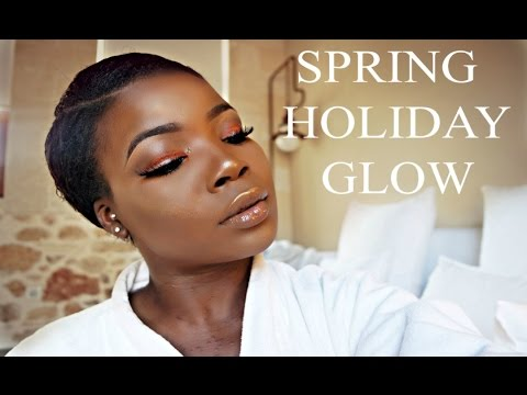 SPRING MAKEUP LOOK | GET READY WITH ME IN GREECE -BEGINNER FRIENDLY
