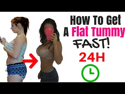 How To Get A Flat Stomach Fast!