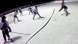Using a BENT Hockey Stick Outside?! | GoPro Pond Hockey