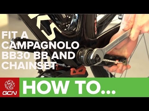 How To Fit A Campagnolo Over Torque (BB30) Bottom Bracket And Chainset - GCN's Maintenance Mondays