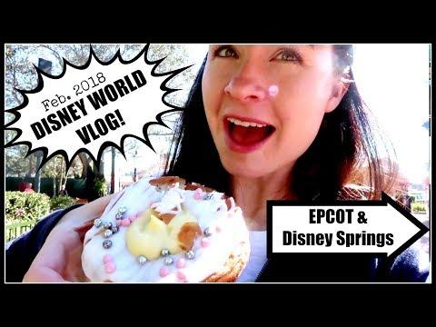 Disney World Vlog! EPCOT Day & Disney Springs Night | February 2018 Day 2