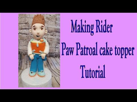 Ryder from paw patrol gumpaste topper tutorial