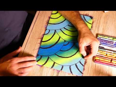 Pastel Colors Painting Abstract Doodle Tutorial for Beginners