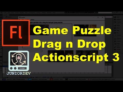 Membuat Permainan Puzzle Drag n Drop dengan Actionscript 3 | Tutorial Adobe Flash (part 26)