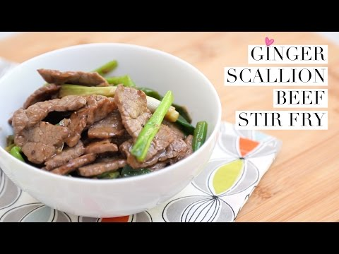 Ginger Scallion Beef Stir-Fry (30 minute meals)