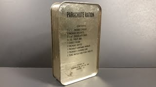 1943 AAF Parachute Ration Survival MRE Review Meal Ready to Eat Tasting Test Oldest Emergency Food K