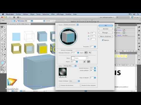 Adobe Illustrator CS5 : 3D extrusion et biseautage