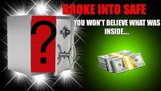 BREAKING INTO LOCKED SAFE FULL OF MONEY! Abandoned Safe With Money Jackpot Inside!