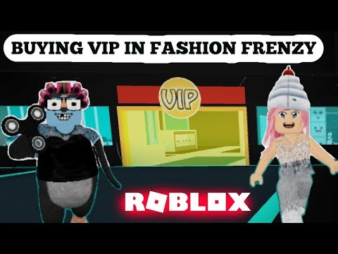 ROBLOX: BUYING VIP IN FASHION FRENZY!!! (Game play!)
