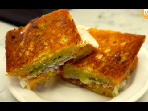 Pesto Panini Recipe (Quick and Easy Sandwich)- BenjiManTV