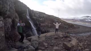 Iceland Waterfall Running Man!!