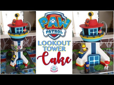 HOW TO MAKE A PAW PATROL LOOKOUT TOWER CAKE | Abbyliciousz The Cake Boutique