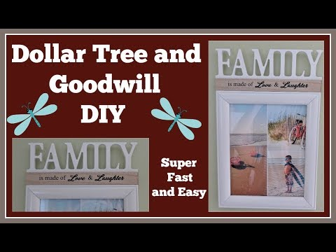 Dollar Tree / Goodwill 🌼 Diy Picture Frame 🌼