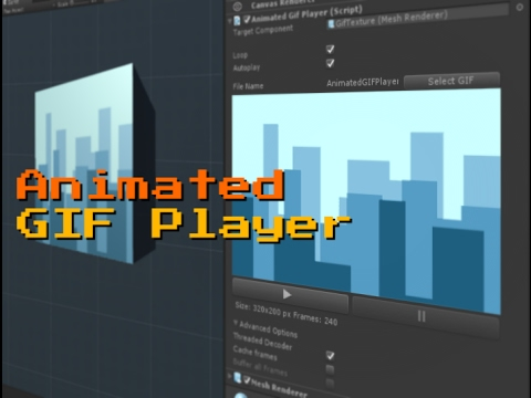 Animated GIF Player for Unity3d