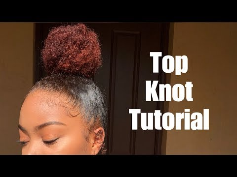 Sleek Top Knot Tutorial | Thick, Curly Natural Hair