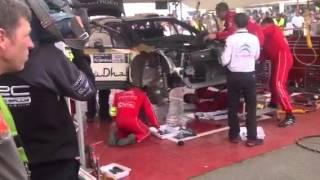 Reparación del coche de Dani Sordo Argentina 2013 (1)