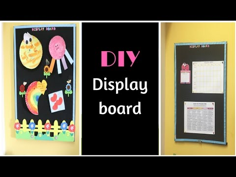 DIY Display Board - Easy Way Of Making Pinboard At Home
