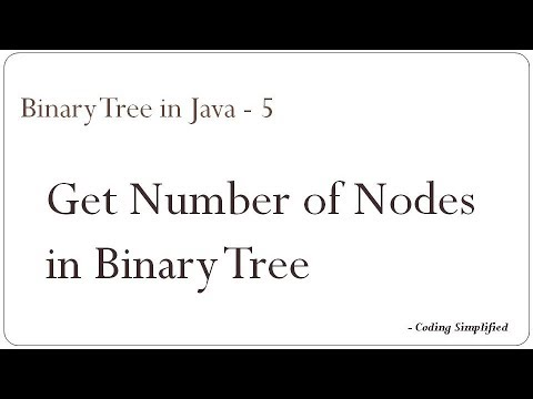 Binary Tree in Java - 5: Get Number of Nodes in a Binary Tree