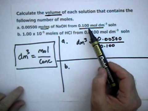 Titrations - Series 1: Volume from moles and concentration.