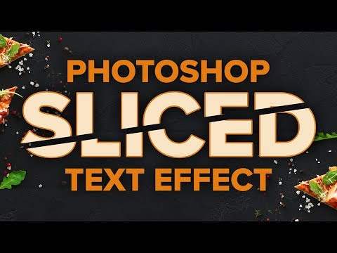Create a Sliced Text Effect in Photoshop