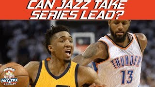 Can Jazz Take Control of Thunder Series ? | Hoops N Brews