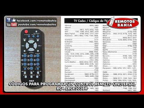CÓDIGOS PARA PROGRAMAR UN CONTROL REMOTO UNIVERSAL RCA LRCR503BR RCR503B RCU503B REMOTOS BAHIA