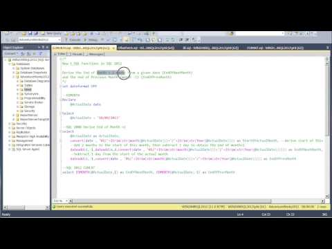 New 2012 T-SQL Functions part1