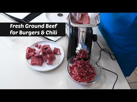 Fresh Ground Beef for Burgers & Chili ~ Homeleader Meat Grinder ~ Amy Learns to Cook