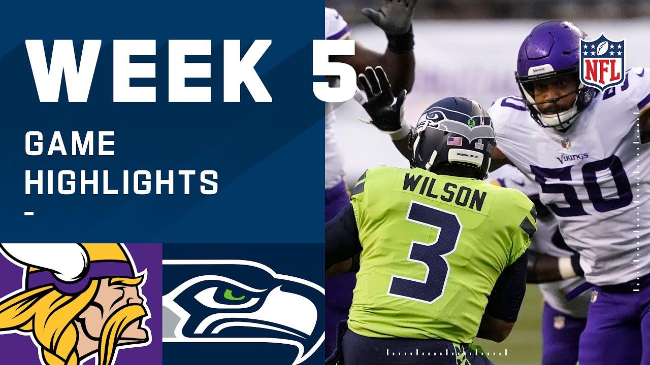 Vikings vs. Seahawks Week 5 Highlights | NFL 2020