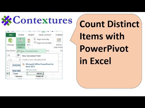 Show Distinct Count in Excel Pivot Table with PowerPivot