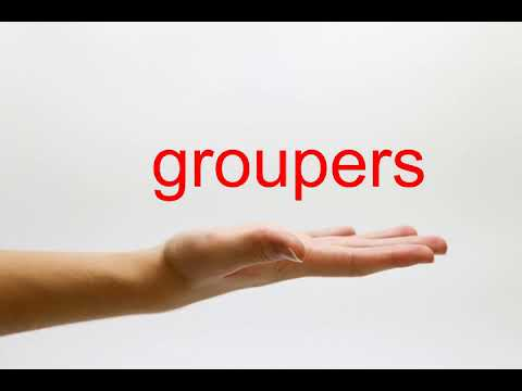 How to Pronounce groupers - American English