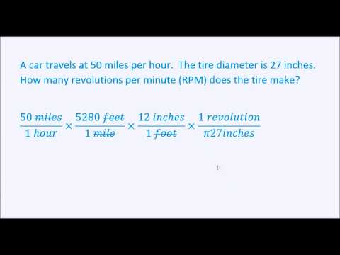 Conversions: Miles per Hour to Revolutions per Minute