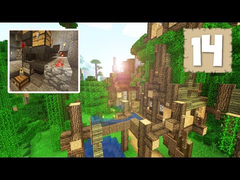 EPIC TREE VILLAGE & THE FASTEST AUTO SMELTER EVER?! - Survival Let's Play Ep.14 - Minecraft 1.2
