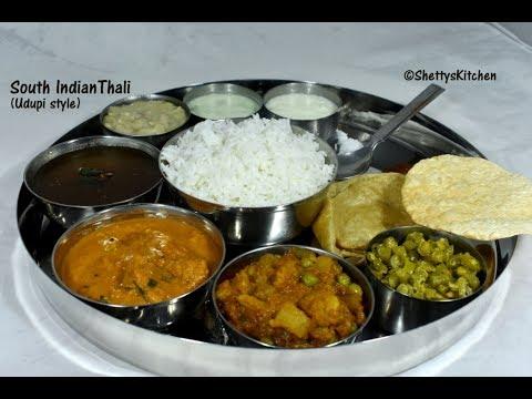 South Indian Thali | Veg thali recipe | South Indian menu Ideas