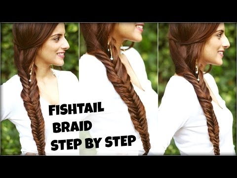 How To: EASY Fishtail Braid Tutorial For Beginners For College, Work | Fishtail Braid Hairstyle