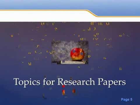 50 Research Paper Topics