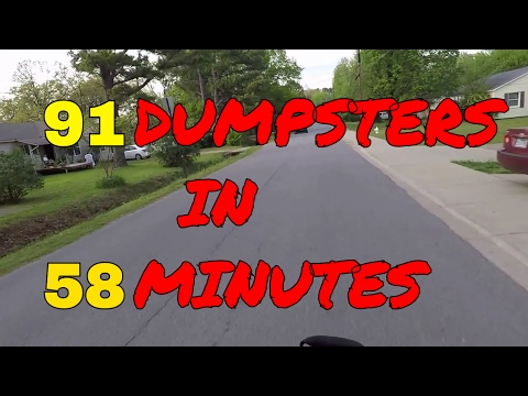 REAL TIME - 91 Dumpsters in 58 Minutes! Dumpster Diver Diving by Motorcycle - Scrap Metal Scrapper