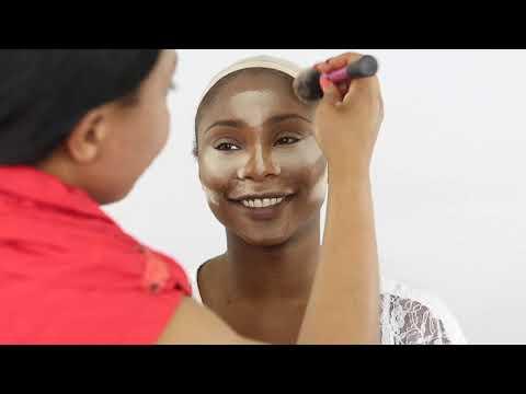 BRIDAL  MAKEUP AND HAIR |NIGERIAN WEDDING|DARK SKIN BRIDE   EP2