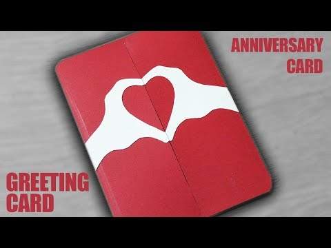 How to make a Greeting Card for Anniversary - DIY Anniversary Card