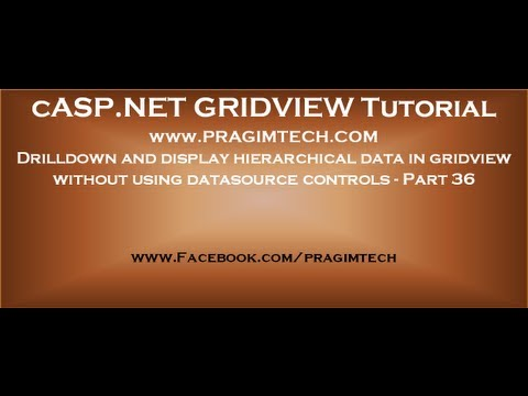 Drilldown and display hierarchical data in gridview without using datasource controls - Part 36